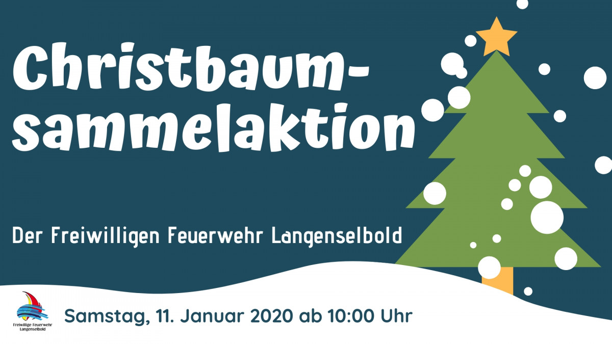 Christbaumsammelaktion2020Plakat