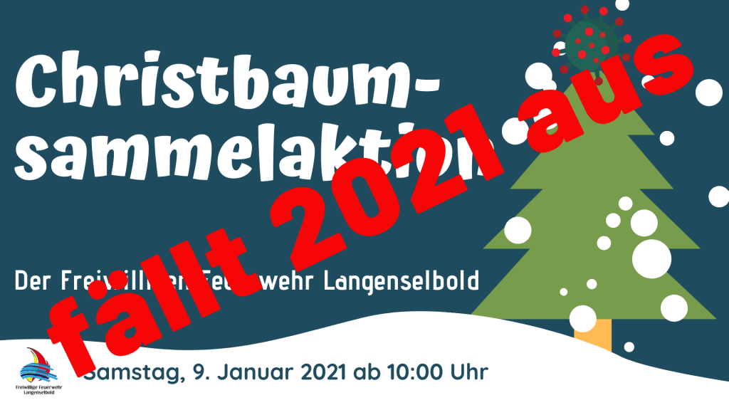 christbaumsammelaktion 2021 plakat